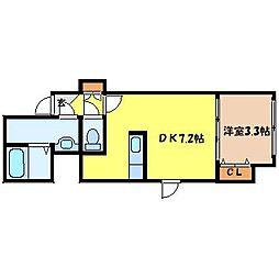 北海道札幌市中央区北一条東7丁目の賃貸マンションの間取り