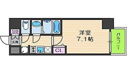 Osaka Metro中央線 阿波座駅 徒歩7分の賃貸マンション 7階1Kの間取り