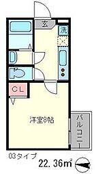 フラッティ西本願寺[4階]の間取り