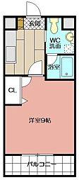 ギャラン吉野町[9階]の間取り
