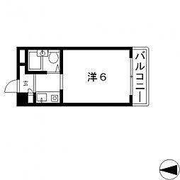 ハイツ八戸ノ里[208号室号室]の間取り