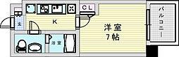 阪急宝塚本線 三国駅 徒歩5分の賃貸マンション 8階1Kの間取り