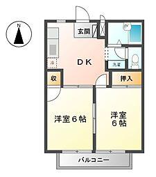 三重県桑名市西正和台1丁目の賃貸アパートの間取り