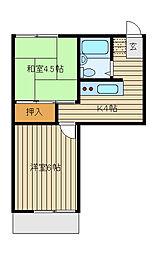 カーサディフォレスタ[2階]の間取り