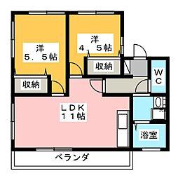 ウィン堀越 A[1階]の間取り