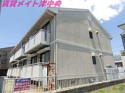 三重県津市桜橋1丁目の賃貸アパートの外観