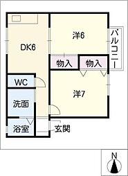インブレイス・オ−ク B棟[1階]の間取り