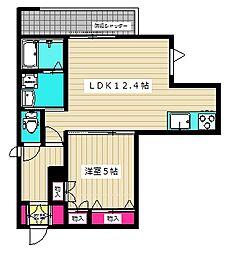 (仮称)西糀谷4丁目メゾン 2階1LDKの間取り