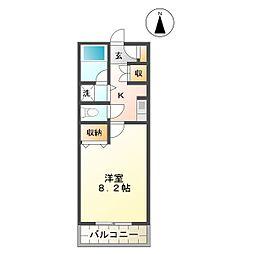 三重県津市河芸町上野の賃貸マンションの間取り