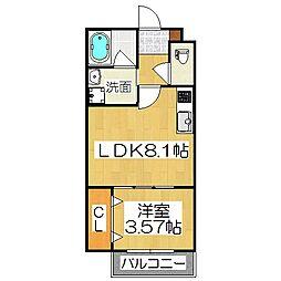 グランツ京都花園[2階]の間取り