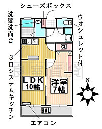 愛知県名古屋市千種区鹿子町3丁目の賃貸マンションの間取り