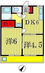 第2中津ビル[401号室]の間取り