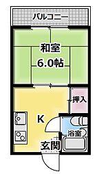 プレアール守口大和田[301号室]の間取り