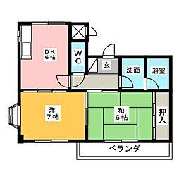 アーバンサイト[1階]の間取り