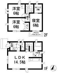 [一戸建] 東京都府中市是政3丁目 の賃貸【東京都 / 府中市】の間取り