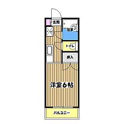 東京都昭島市緑町2丁目の賃貸マンションの間取り