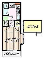 エトワール井上II[1階]の間取り