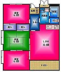 ロイヤルパレス渡辺弐番館[3階]の間取り