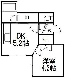 プラザイン発寒23[3階]の間取り
