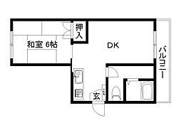 京都府京都市下京区西七条北東野町の賃貸マンションの間取り