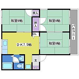 王塚公園ハイツ[1階]の間取り