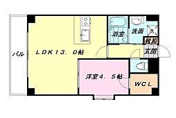 KDXレジデンス天神東II[9階]の間取り