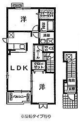 シャトーフレイズ[A202号室]の間取り