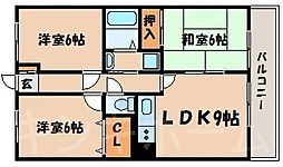 広島県広島市安芸区矢野東5丁目の賃貸マンションの間取り