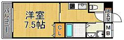 モレス・ヴィラ尼崎 3階1Kの間取り