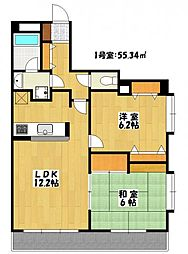 サンプラトー[4階]の間取り