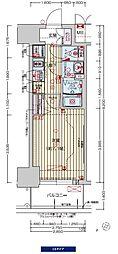 阪神なんば線 九条駅 徒歩3分の賃貸マンション 7階1Kの間取り