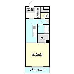 エスシーマンション[2階]の間取り