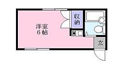 木谷コーポ[1階]の間取り