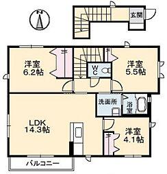 LEVANTE東風 四番館[2階]の間取り
