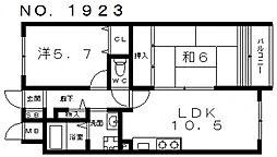 グラン・ピア天王寺[2階]の間取り