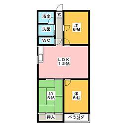 工藤ビル[6階]の間取り