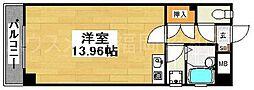 福岡県福岡市中央区大名1丁目の賃貸マンションの間取り