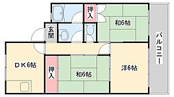 兵庫県神戸市灘区天城通5丁目の賃貸マンションの間取り