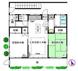 ハウス高林[1階号室]の間取り