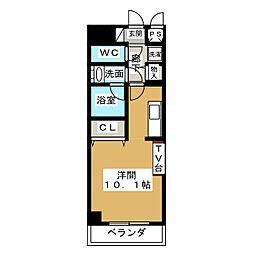 ノヴェル新栄[5階]の間取り