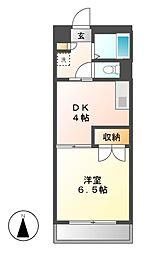 愛知県名古屋市東区筒井2の賃貸マンションの間取り