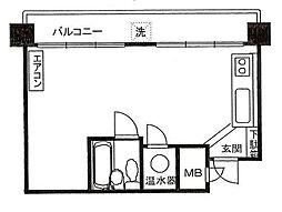 長者町ビジネスマンション[11階]の間取り