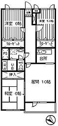 コ−トJ[308号室]の間取り