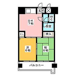 サンアベニュー井尻[2階]の間取り