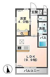 シェルル小金井(仮)[203号室]の間取り