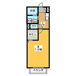 グリーンフォレストAZUMI A[2階]の間取り