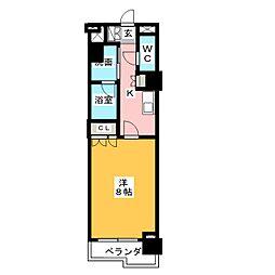 グラン・アベニュー鶴舞公園 5階1Kの間取り
