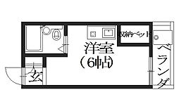 メゾンドフジ[1階]の間取り