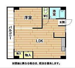 福岡県北九州市小倉北区熊本1の賃貸マンションの間取り