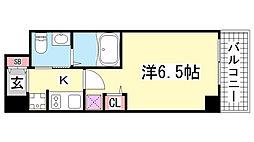 エステムプラザ神戸大開通ルミナス[10階]の間取り